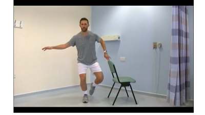 Exercises for patients with anterior knee pain: Hard (single leg squat) Thumbnail