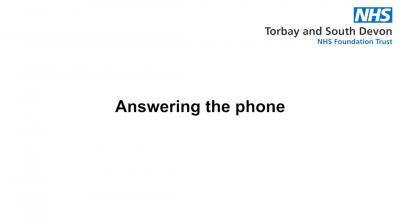 Answering the phone Thumbnail