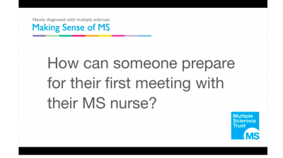 How can someone prepare for their first meeting with their MS nurse? Thumbnail