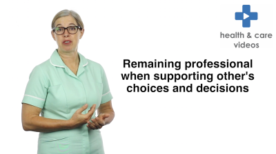 Remaining professional when supporting others choices and decisions Thumbnail