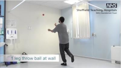 1 leg throw ball at the wall Thumbnail