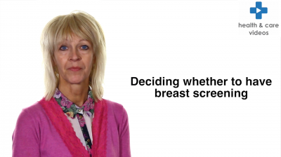 Deciding whether to have breast screening Thumbnail