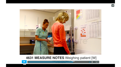 Measure Notes - Weighing patient (W) Thumbnail