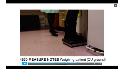 Measure Notes - Weighing patient (Ground) Thumbnail