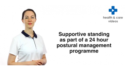 Supportive standing as part of a 24 hour postural management programme Thumbnail