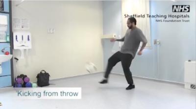 Kicking ball from throw Thumbnail