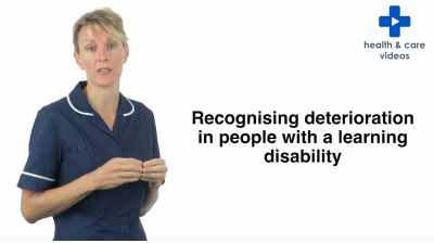 Recognising deterioration in people with a learning disability Thumbnail