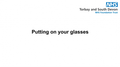 Putting on your glasses Thumbnail
