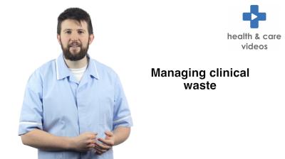 Managing clinical waste Thumbnail
