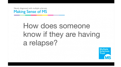 How does someone with MS know if they are having a relapse? Thumbnail