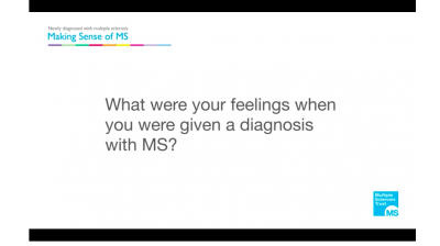 What were your feelings when you were given a diagnosis of MS? Thumbnail