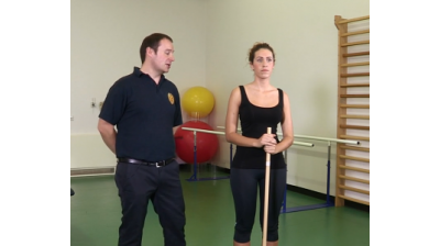 Shoulder elevation with stick Thumbnail