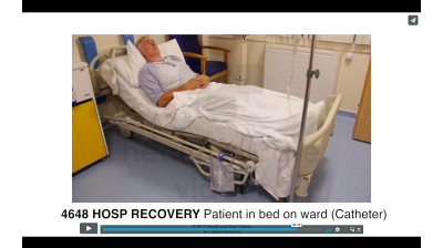 Hosp Recovery - Patient in bed on ward (Catheter) Thumbnail