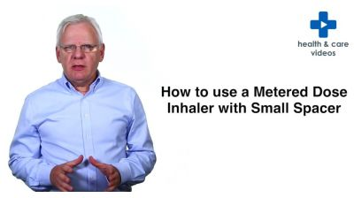 How to use a Metered Dose inhaler with a Small Volume Spacer Device Thumbnail