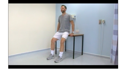 Exercises for patients with anterior knee pain: Easy (Supported squat) Thumbnail