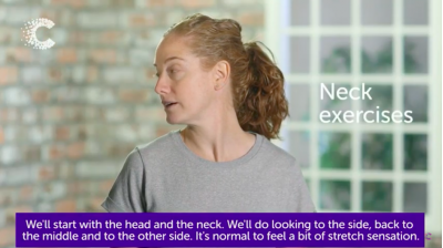 Exercises for head and neck lymphoedema Thumbnail