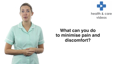 What can you do to minimise discomfort and distress Thumbnail