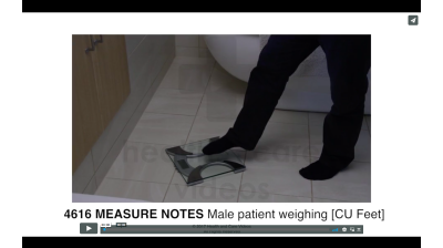 Measure Notes - Male patient weighing (FEET) Thumbnail