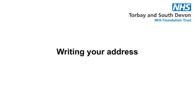 Writing your address Thumbnail