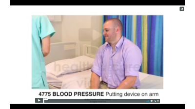 Blood Pressure - Putting device on arm Thumbnail