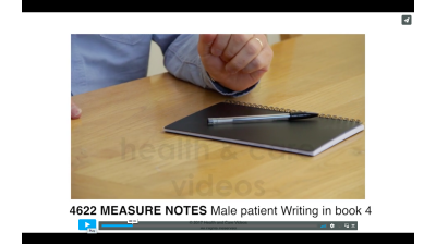 Measure Notes - Male patient writing in book 4 Thumbnail