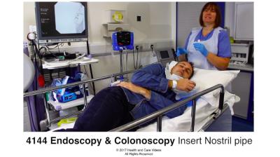 Endoscopy & Colonoscopy - inserting mouthguard Thumbnail