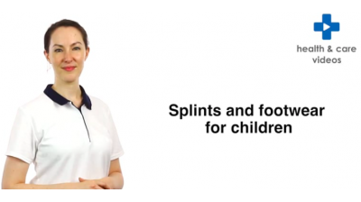 Splints and footwear for children Thumbnail