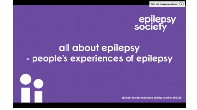 All about epilepsy - people's experiences of epilepsy (English) Thumbnail