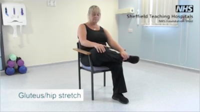 Gluteus/hip stretch Thumbnail