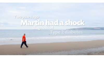 Martin's Walking Away from Type 2 Diabetes Thumbnail
