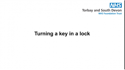Turning a key in a lock Thumbnail