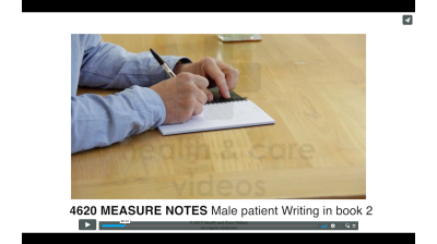 Measure Notes - Male patient writing in book Thumbnail