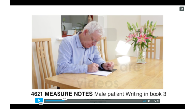 Measure Notes - Male patient writing in book 3 Thumbnail
