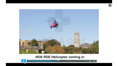 Entrance Cam - Helicopter coming in Thumbnail