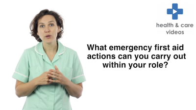 What emergency first aid actions can you carry out within your role Thumbnail
