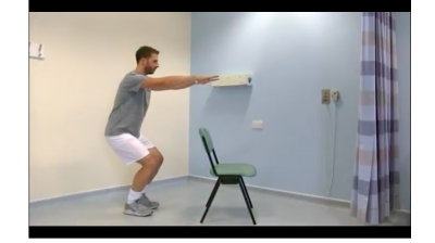 Exercises for patients with anterior knee pain: Moderate (double leg squat) Thumbnail