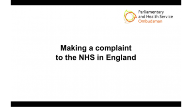 Tips on making a complaint to the NHS in England Thumbnail
