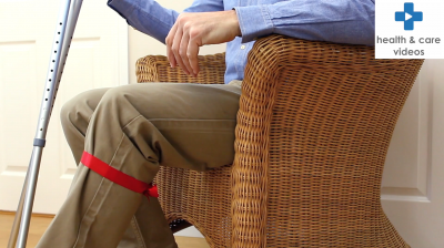 How to sit down, stand up with crutches Thumbnail